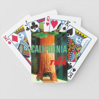 TWA California - Redwoods Bicycle Card Decks