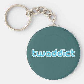 Twaddict Basic Round Button Key Ring