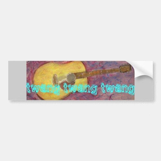 twang twang twang Acoustic Bumper Stickers