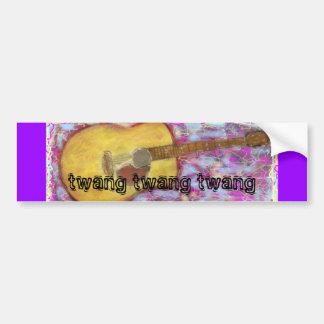 twang twang twang Acoustic Guitar Bumper Stickers
