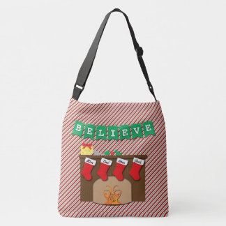 Twas the Night Before Christmas • 4 Stockings Crossbody Bag