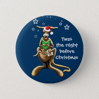 Twas the night before Christmas 6 Cm Round Badge