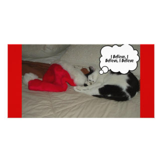 Twas the Night before Christmas Kitten Custom Photo Card