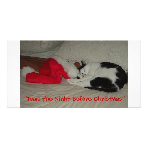 Twas the Night before Christmas Kitten Photo Greeting Card