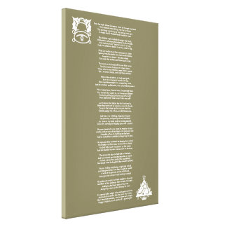 Twas the Night Before Christmas Poem Canvas Stretched Canvas Prints