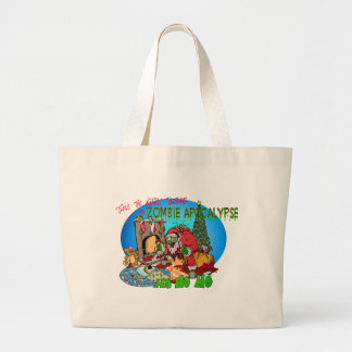 Twas the Night Before the Zombies Jumbo Tote Bag