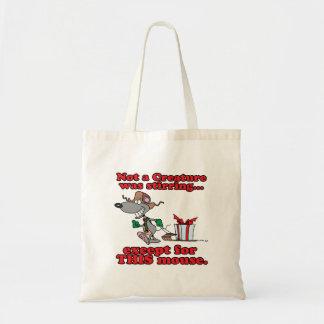 twas the night christmas mouse cartoon budget tote bag