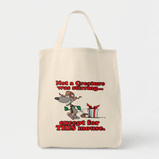 twas the night christmas mouse cartoon canvas bags