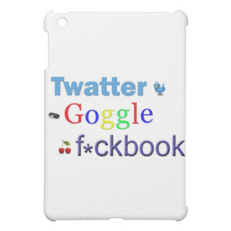 Twatter Goggle and F*cbook iPad Mini Cover