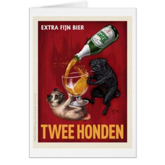 Twee Honden Greeting Card
