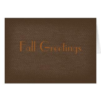 Tweed Greeting Card