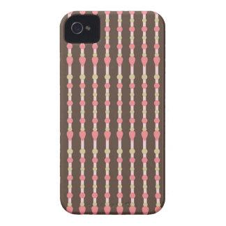 Tweed herringbone brown & pink pattern iPhone case iPhone 4 Covers