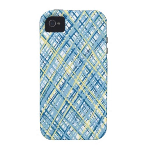 Tweed texture blue and yellow sophisticate case iPhone 4/4S case