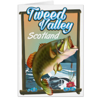 Tweed Valley Scotland Fishing poster Card