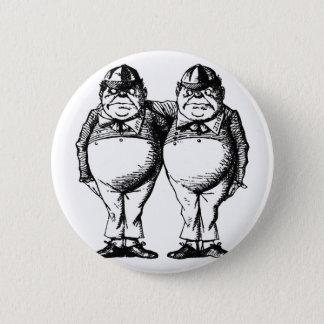 Tweedle Dee and Tweedle Dum 6 Cm Round Badge