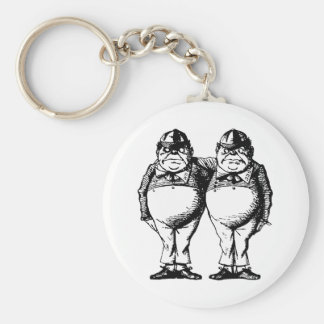 Tweedle Dee and Tweedle Dum Inked Key Ring