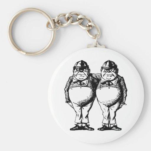 Tweedle Dee and Tweedle Dum Inked Key Chains