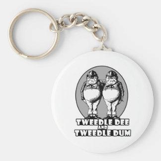 Tweedle Dee and Tweedle Dum Logo Basic Round Button Key Ring