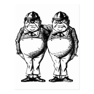 Tweedle Dee and Tweedle Dum Postcard