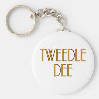 Tweedle Dee Basic Round Button Key Ring
