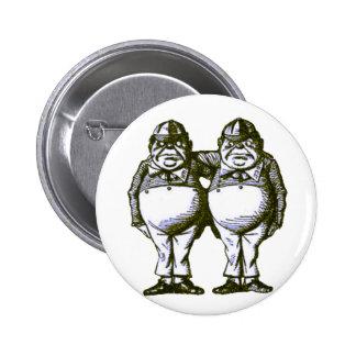 Tweedle Dee & Tweedle Dum 6 Cm Round Badge