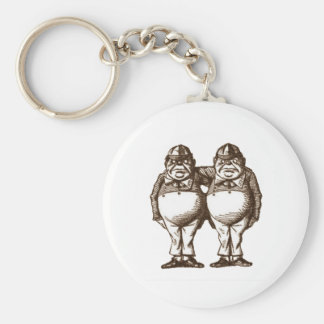 Tweedle Dee & Tweedle Dum Sepia Key Ring