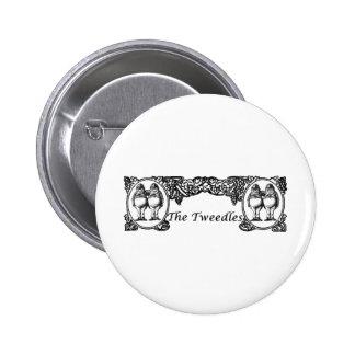 Tweedle Dee & Tweedle Dum Vintage Frame 6 Cm Round Badge