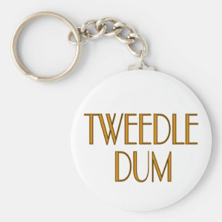 Tweedle Dum Basic Round Button Key Ring