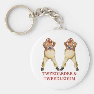 TWEEDLEDEE & TWEEDLEDUM IN WONDERLAND BASIC ROUND BUTTON KEY RING