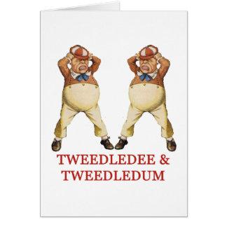 TWEEDLEDEE & TWEEDLEDUM IN WONDERLAND CARD