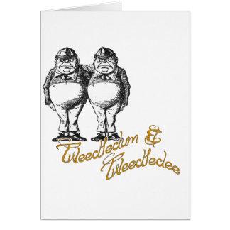 Tweedledum & Tweedledee Greeting Cards