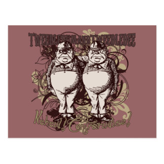 Tweedledum Tweedledee Carnivale Style Postcard