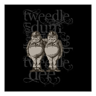 Tweedledum & Tweedledee Grunge (Single Figure) Poster