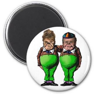 Tweedles Palin & Bush 6 Cm Round Magnet