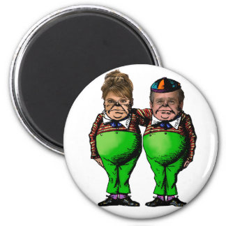 Tweedles Palin & Bush Refrigerator Magnets