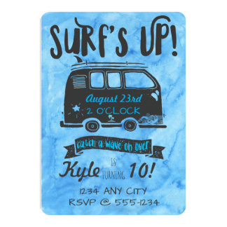 Tween Birthday - Surf Theme Card