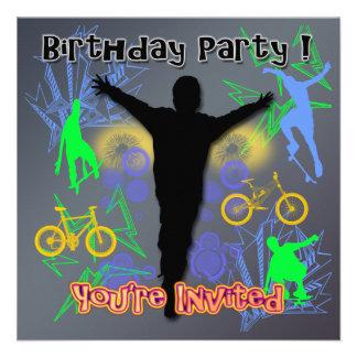 Tween Boy s Birthday Party Invitations