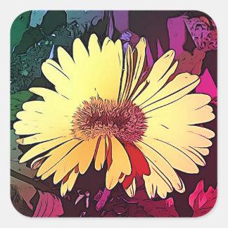 Tween Gerbera Daisy yellow stickers