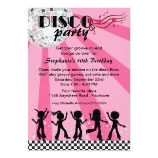 Tween Girls Disco Birthday 13 Cm X 18 Cm Invitation Card