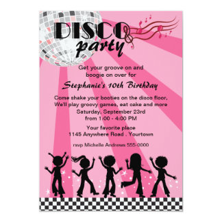 Tween Girls Disco Birthday Card