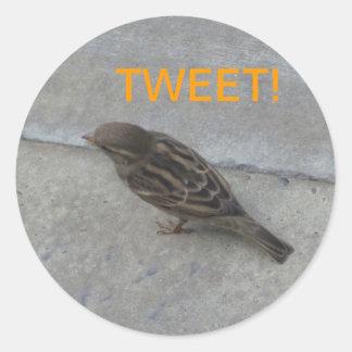 TWEET Bird Round Sticker