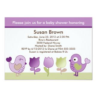 Tweet/Birdies & Tulips Baby Shower Invitation