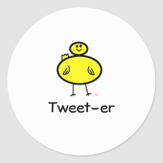 Tweet-er Round Sticker