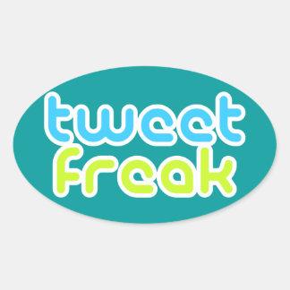 Tweet Freak Oval Sticker