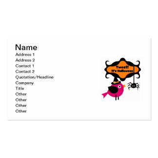 Tweet Halloween T-shirts and Gifts Business Card Templates