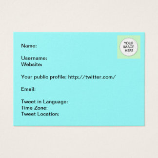 Tweet Info The MUSEUM Zazzle Gifts Business Card