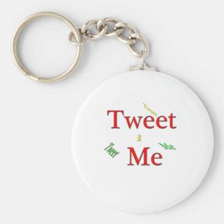 Tweet Me.png Basic Round Button Key Ring