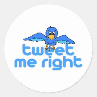 Tweet Me Right Round Sticker
