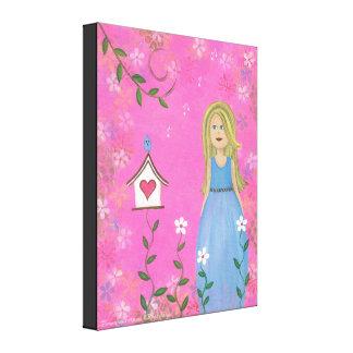 Tweet Moments - 16x20 Bird House Kids Wall Art Canvas Prints