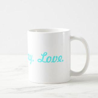 Tweet< Pray, Love -light blue Basic White Mug